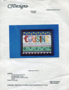 """CJDesigns """"Cousins"""" Counted Cross Stitch Kit"""