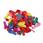 Water & Wood 100 Pcs Colourful Birthday Wedding Party Decoration Latex Balloons