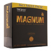 Trojan Condom Magnum Lubricated, 36ct