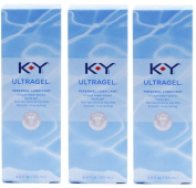 K-Y KY Ultra Gel Personal Lubricant Pack of 3 @ 4.5 oz (133 ml) each