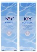 K-Y KY Ultra Gel Personal Lubricant Pack of 2 @ 4.5 oz (133 ml) each