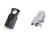 Pack of 2 High Power 30x-60x Hand Held Lighted Magnifying Glass
