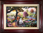 Gone with the Wind - Thomas Kinkade 46cm x 70cm Artist Proof Limited Edition Framed Canvas Artwork