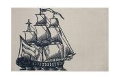 THOMAS PAUL Galleon Bath Mat, Ink