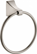Paradise Bathworks 64028 Shangri-La Towel Ring, Satin Nickel