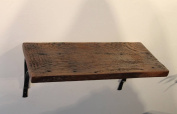 Reclaimed, Wood Shelf, Pine, 30cm x 20cm x 2.5cm , with Brackets, Antique, Vintage, Good For Small Spaces