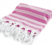"Cacala Light Pestemal Turkish Bath Towels 90cm x 180cm for Bath Hamam Unisex ""Darkpink"""
