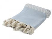 "Hand Loomed Pestemal Striped Turkish Bath Towel 90cm x 170cm %100 CottonTM by Cacala ""Olivegreen"""