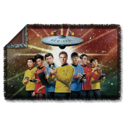 Original Crew -- Star Trek -- Woven Throw Blanket Tapestry