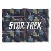 Enterprise Diagram & Crew -- Star Trek -- Pillow Case