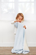 Elegant Baby Classic and Timeless Wide Cable Knit Blanket, Blue