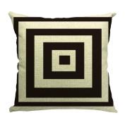 JTC Throw Pillowcases Geometry Cushion Covers Protectors 18*46cm