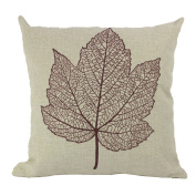 JTC Throw Pillowcases Leaf Cushion Covers Protectors 18*46cm