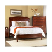 Contemporary Split Panel Wooden Sleigh Bed Queen Size Bed