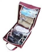 Travel Waterproof Ventilation Folding Shoes Storage Organiser Portable Fashion Closet Women/men Shoe Bags 35*20*40