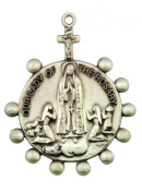 Our Lady of Fatima 3.2cm Sterling Silver Rosary Ring