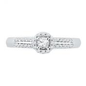 10KT White Gold Round Diamond Promise Ring