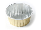 KEISEN 8.6cm mini Disposable Aluminium Foil Cups 120ml for Muffin Cupcake Baking Bake Utility Ramekin Cup 100/PK