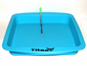TitanOwl Silicone Deep Dish Container Aprox 20cm x 20cm + Carving Scrape Tool