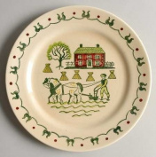 Metlox HOMESTEAD PROVINCIAL POPPYTRAIL Handpainted DINNER PLATE Discontinued 1982
