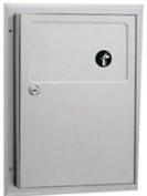 Bobrick B354 Partition-Mounted Sanitary Napkin Disposal, 4.5l, S