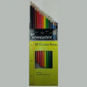 12 Coloured Personalised Pencils - ezpencils