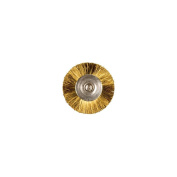 Mounted Brass Straight Wire Brushes 1.9cm X 0.2cm