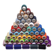 Cosmos ® 60 Spools Assorted Colour 200 Yards Each Unit Polyester Sewing Thread