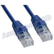 Amphenol MP-5XRJ45UNNB-003 Cat5e UTP Crossover Cable, RJ45, 10/100BASE-T, 0.9m, Blue