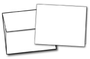11cm x 14cm Heavyweight Blank White Greeting Card Sets - 40 Cards & Envelopes