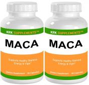 2 Bottles Maca Root (Lepidium Meyenii) 500mg 180 Total Capsules KRK Supplements