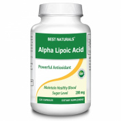 Best Naturals, Alpha Lipoic Acid (ALA), 200 mg, Powerful Antioxidant -- 120 Capsules