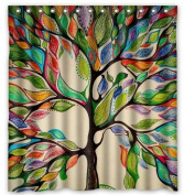 Tree of Life Gorgeous Like Leather 170cm (w) x 180cm (h) Bath Shower Curtain