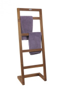 Angled Teak Towel Stand - From the Spa Collection
