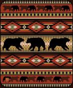 Black Bear Lodge High Quality Raschel Blush Queen Size Blanket