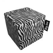 Big Joe Square Storage Ottoman, 38cm , Zebra