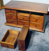 9 Drawer Apothecary Spice - Jewellery Chest Wood New