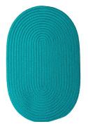 Boca Raton Polypropylene Braided Rug, 0.9m by 1.5m, Turquoise