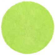 Green 0.9m Round Shagadelic Chenille Twist Rug