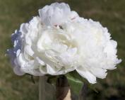 Silk Peonies Bouquet - Cream