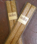 30cm Natural Beeswax Glitter Candles, Gold Colour, Boxed Set of 2