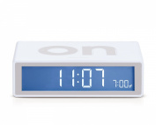Flip On/Off Alarm Clock White