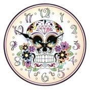 Day of the Dead clock - Reloj El Dia de los Muertos - Calavera