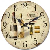 Yosemite Home Decor CLKA7186 Circular Iron Framed Wall Clock with Glass, Grey