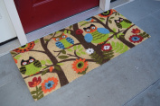 Kempf Forrest Owls Coco Door Mat with Vinyl Backing