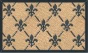 MILLIARD 'Fleur De Lis' Eco-Friendly Decorative Coco Coir 46cm x 80cm Doormat