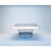 Homesaver 10345 20cm HomeSaver Pro Stainless Steel Round Chimney Cap 1.9cm Mesh