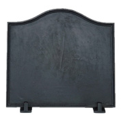 Black Cast Iron Plain Fireback - 41cm x 44cm