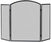 Panacea 15936 Three Panel Basic Arch Firescreen, Black
