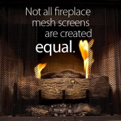 "Fireplace Mesh Screen Curtain. 48cm High (9-19). Includes two panels, each 60cm wide. This provides enough screen for a good looking natural ""drape"" effect on the average fireplace. Cool Grip Matte Black Screen Pulls included. Valance Rod Kit (NEW PROD .."
